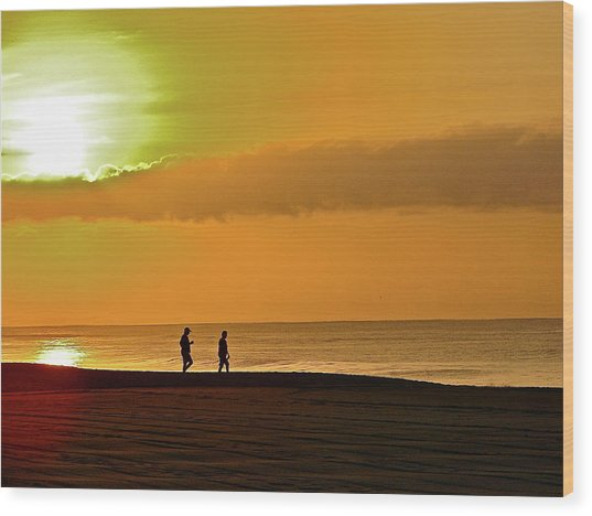 Sunrise Stroll Wood Print