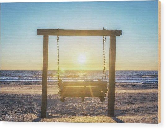 Sunrise Swings Wood Print