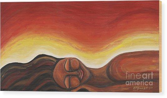 Sunrise Wood Print by Tiffany Yancey
