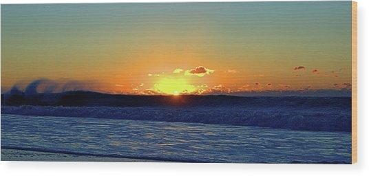 Sunrise Wave I I I Wood Print