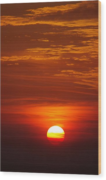 Sunset 13 Wood Print by Don Prioleau