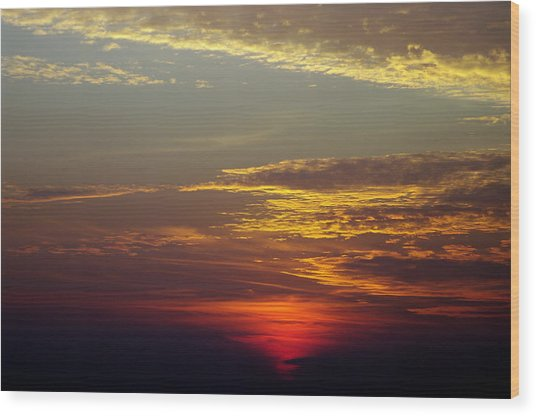 Sunset 18 Wood Print by Don Prioleau