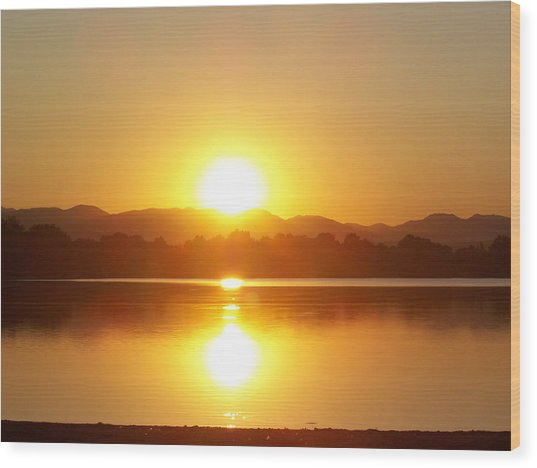 Sunset 2 Wood Print by Travis Wilson