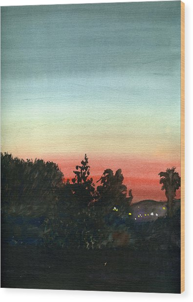 Sunset #26 Lemon Grove Wood Print