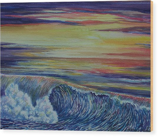 Sunset 3 Wood Print by Arnold Hurley