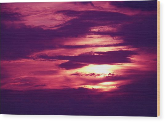 Sunset 4 Wood Print by Evelyn Patrick
