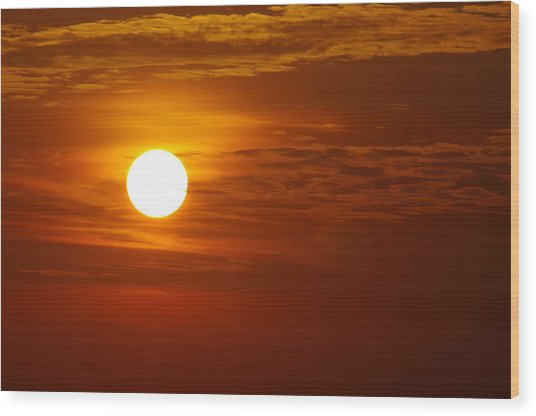 Sunset 7 Wood Print by Don Prioleau