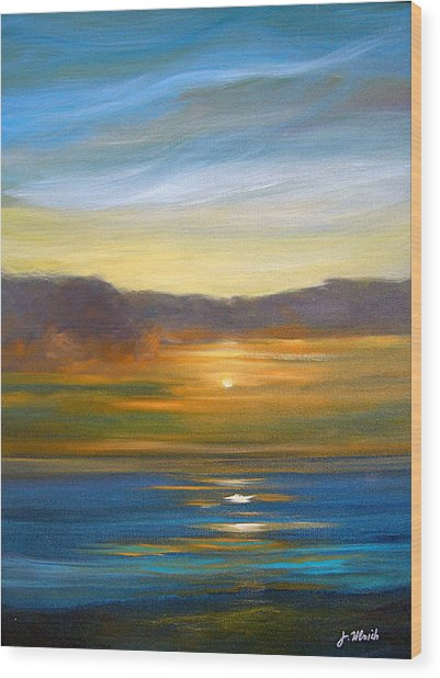 Sunset 9 Wood Print by Jeannette Ulrich