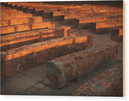 Sunset, Amphitheatre Wood Print