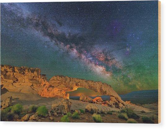 Sunset Arch Wood Print