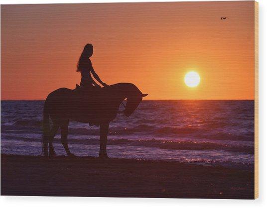 Sunset Wood Print by Artur Baboev
