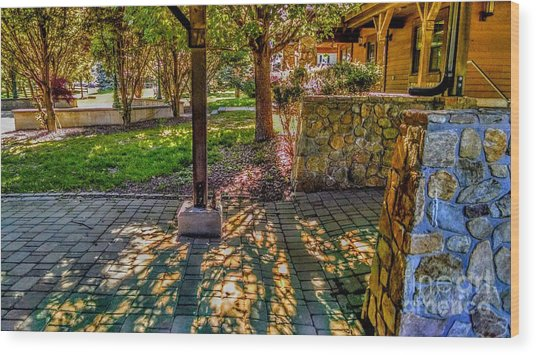 Sunset At Community Park In Montville, New Jersey Wood Print