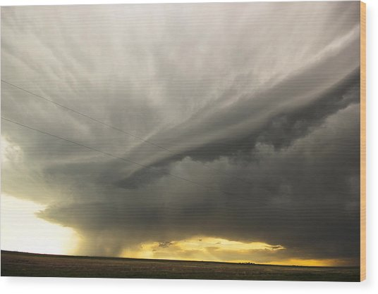 Sunset At Dalhart Texas Wood Print