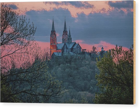 Sunset At Holy Hill Wood Print