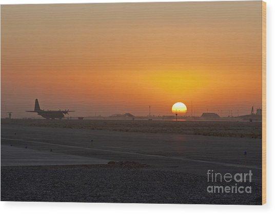 Sunset At Kandahar Wood Print by Tim Grams