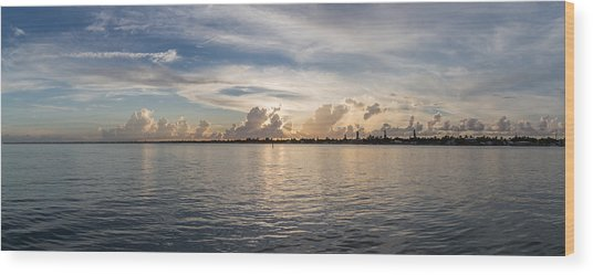 Sunset At Key Largo Wood Print