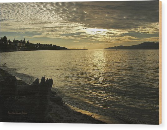 Sunset At Kitsilano Wood Print