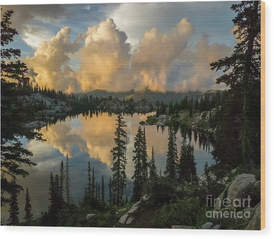Wood Print featuring the photograph Sunset At Lake Mary by Spencer Baugh