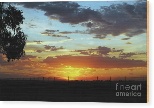 Sunset At Little River Victoria Wood Print
