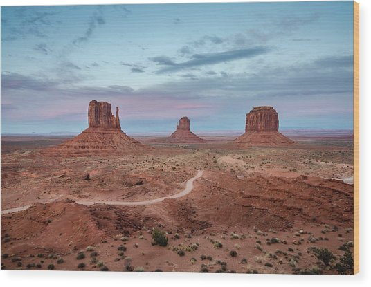 Sunset At Monument Valley No.1 Wood Print