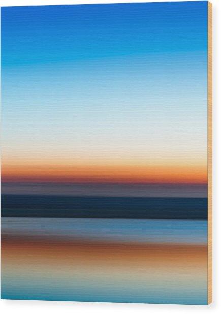 Sunset At Ottawa Lake Wood Print