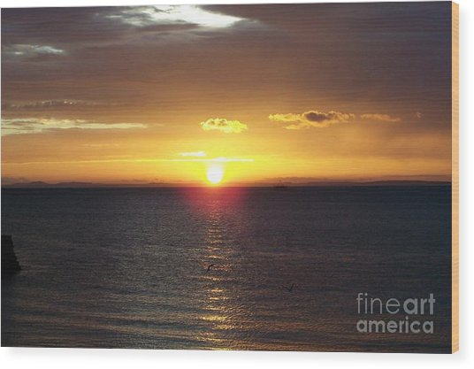Sunset At Pacific Shores Wood Print by Dindin Coscolluela