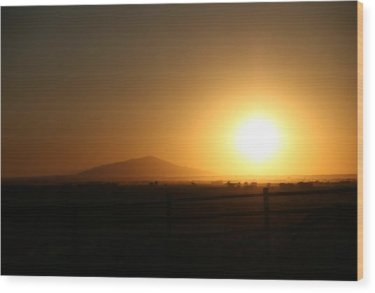 Sunset At Roswell New Mexico  Wood Print