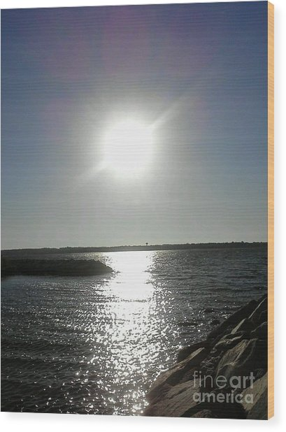 Sunset At Solomons Island Md Wood Print