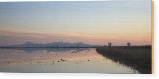 Sunset At Sutter Buttes Wood Print by Charlie Osborn