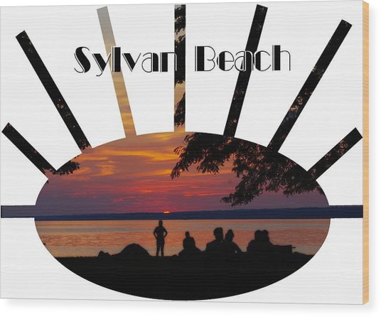 Sunset At Sylvan Beach - T-shirt Wood Print