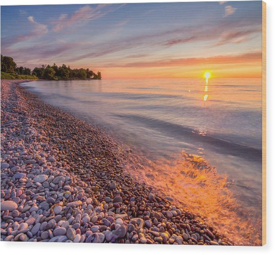 Sunset At The Loop  Wood Print