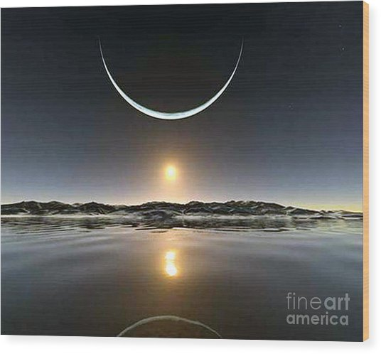 Sunset At The North Pole Wood Print
