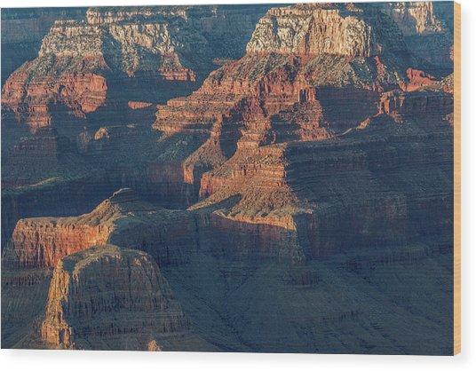 Sunset At The South Rim, Grand Canyon Wood Print