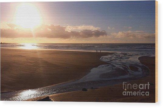 Sunset - Bastendorff Beach Wood Print