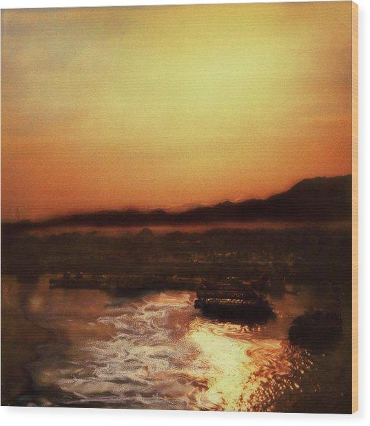 Sunset Bay  Wood Print by Paul Tokarski