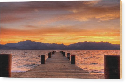 Sunset Bliss Wood Print