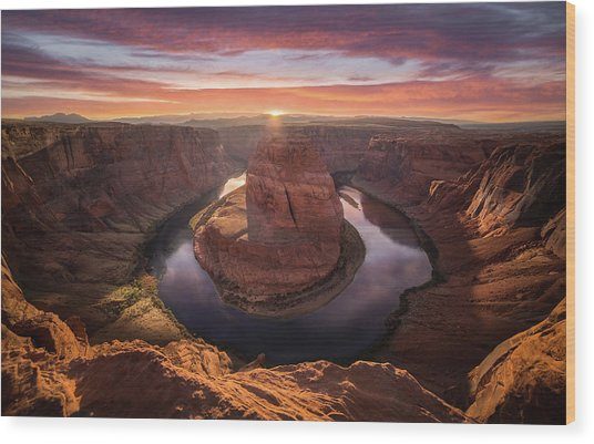 Sunset Blossom // Horseshoe Bend // Arizona   Wood Print