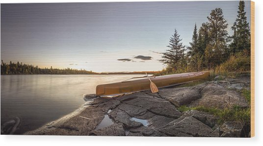 Sunset // Boundary Waters Canoe Area, Minnesota  Wood Print
