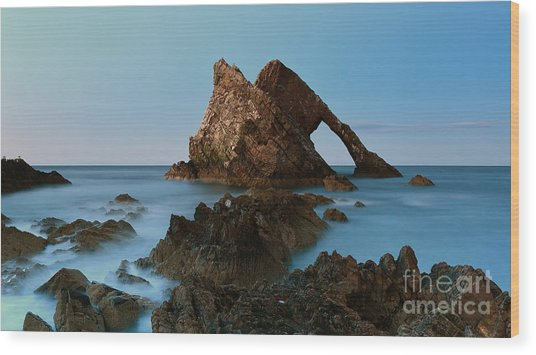 Sunset By Bow Fiddle Rock Wood Print by Maria Gaellman