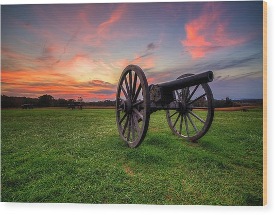 Wood Print featuring the photograph Sunset Canon by Ryan Wyckoff