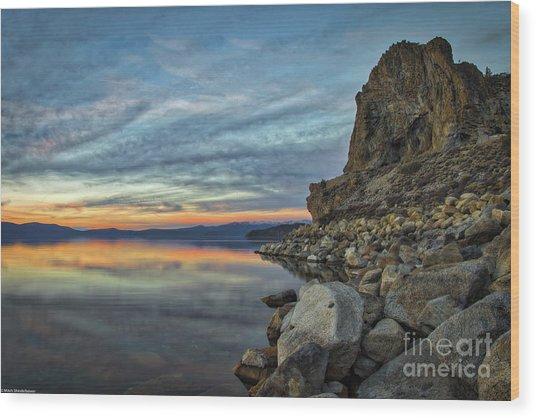 Sunset Cave Rock 2015 Wood Print