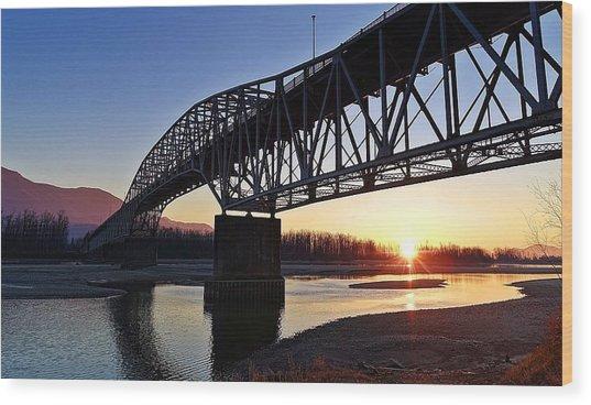 Fraser River, Bc  Wood Print