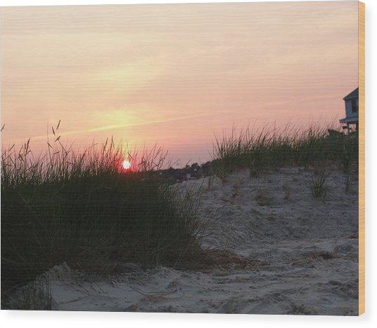 Sunset Dewey Beach Wood Print by Kevin Callahan