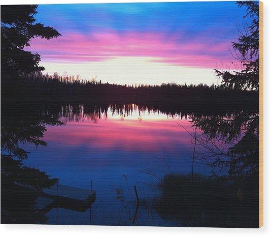 Sunset Explosion Wood Print