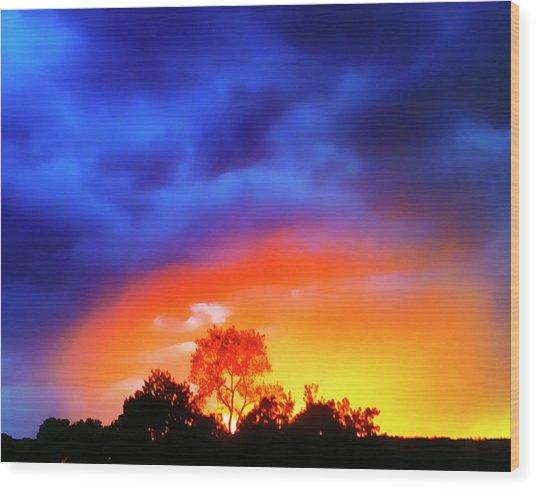 Sunset Extraordinaire Wood Print