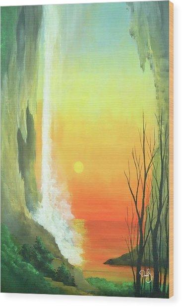Sunset Fall  Wood Print by Daniel Sanchez