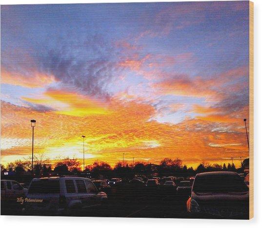 Sunset Forecast Wood Print