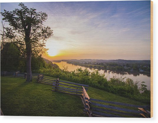 Sunset From Boreman Park Wood Print