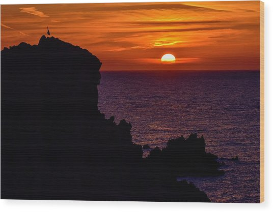 Sunset From Costa Paradiso Wood Print