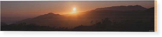 Sunset From Marine Headlands San Francisco Wood Print